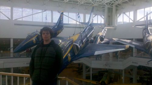 John with the original Blue Angels fighters.