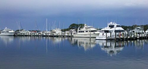 Bay Pointe Marina -- some big iron in here
