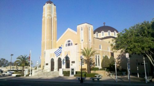 Tarpon Springs has a huge Greek cathedral with a bishop and the whole nine yards.
