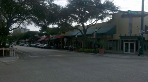 Typical downtown Sarasota Street.