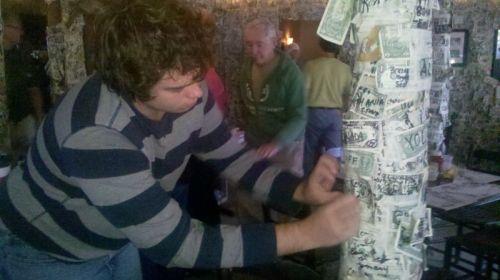 John doing the dollar ceremony