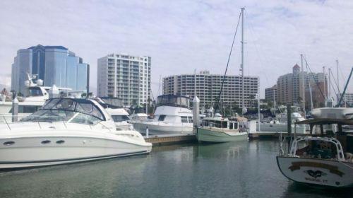 Sarasota skyline from Memsahib's dock at Marina Jack.
