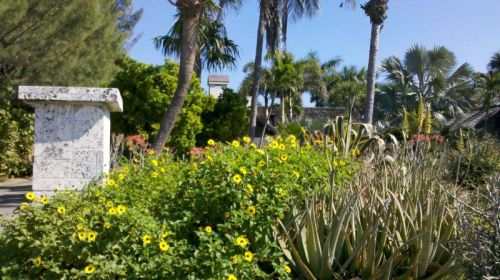 Captiva has enough rain (and money) to support wonderful tropical landscaping.