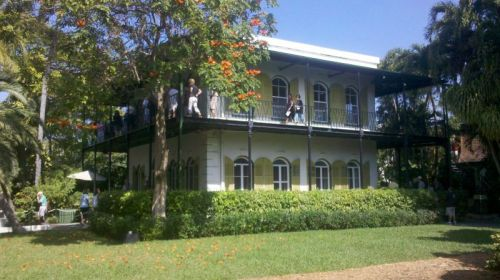 Hemingway's beautifully preserved home.  He lived there from 1931 to 1940.