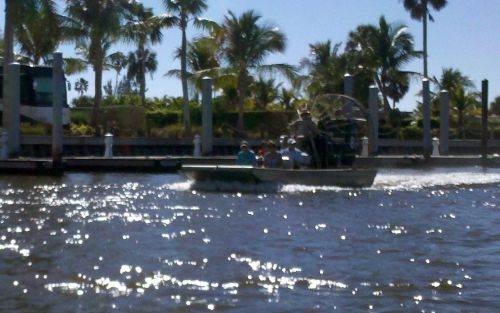 Tourists heading for the Glades