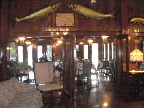 Dining room at the Rod and Gun Club