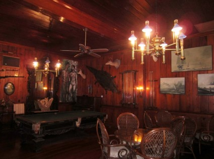 R&G billiard room. John and I played (poorly) every night.