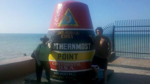 John and I always point out that we've been South of the Southernmost Point, since we sailed right by it coming into Key West Harbor.