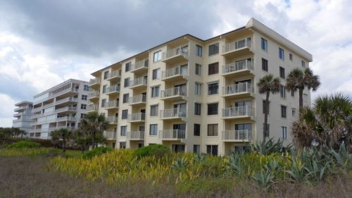 My apartment on the beach in Cocoa.  Top floor, beautiful view, three, bedrooms, two baths -- $535 per month, which I thought was a fortune.