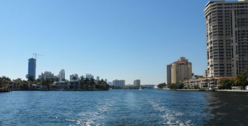About 70 miles of the ICW north of Miami look just like this -- plus 30 or so bridges to get through.