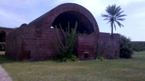 Magazine where they stored the gunpowder.  Yes, these are the DRY tortugas.