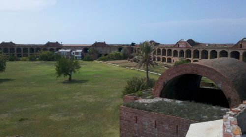 Parade ground shows Fort Jefferson's huge scale.