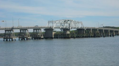 Forrest Gump somehow ran across the Mississippi over this bridge in Beaufort, SC