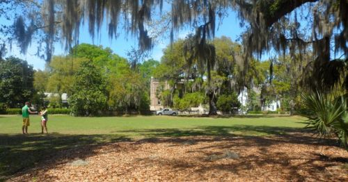Beaufort City Park where the Big Chill cast played touch football, Denzel Washington drilled in Glory and Forrest Gump did something-or-other