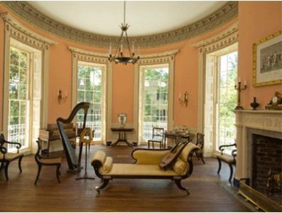Russell House drawing room.