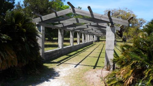Pergola to keep the Victorian ladies from harming their delicate skin.