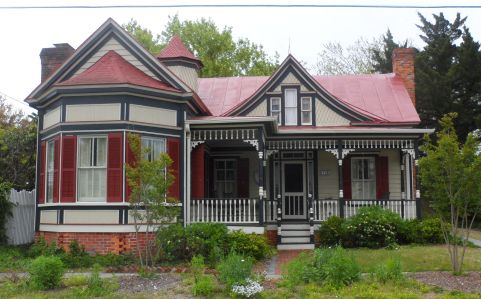 Beaufort, NC, Victorian.  Surprising number of Victorians all over the South built during the lumber boom.