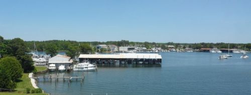 Solomons Island from the top of the lighthouse.