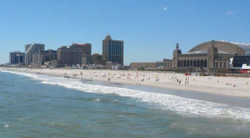 The beach at Atlantic City has always been magnificent.  The big building is the Miss America venue.